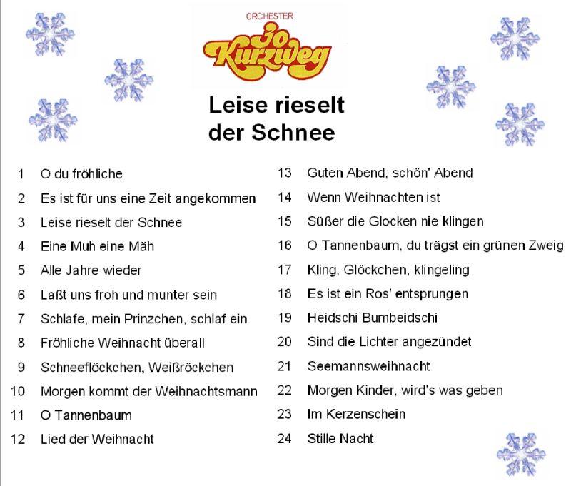 O Tannenbaum Kinderlied.Leise Rieselt Der Schnee 1976 Schlager Zur Weihnachtszeit
