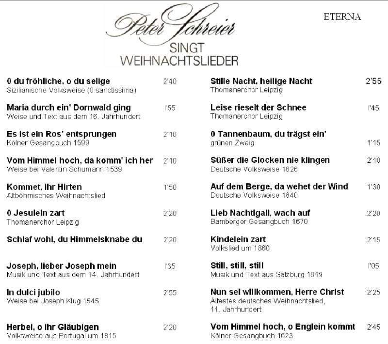 Weihnachtslieder & Adventsmusik der DDR - CD-Sammlung -